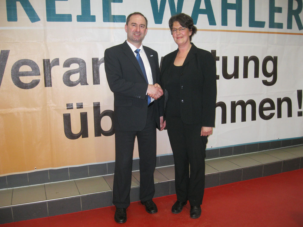 Geiselwind April 2013 - Hubert Aiwanger und Susann Enders