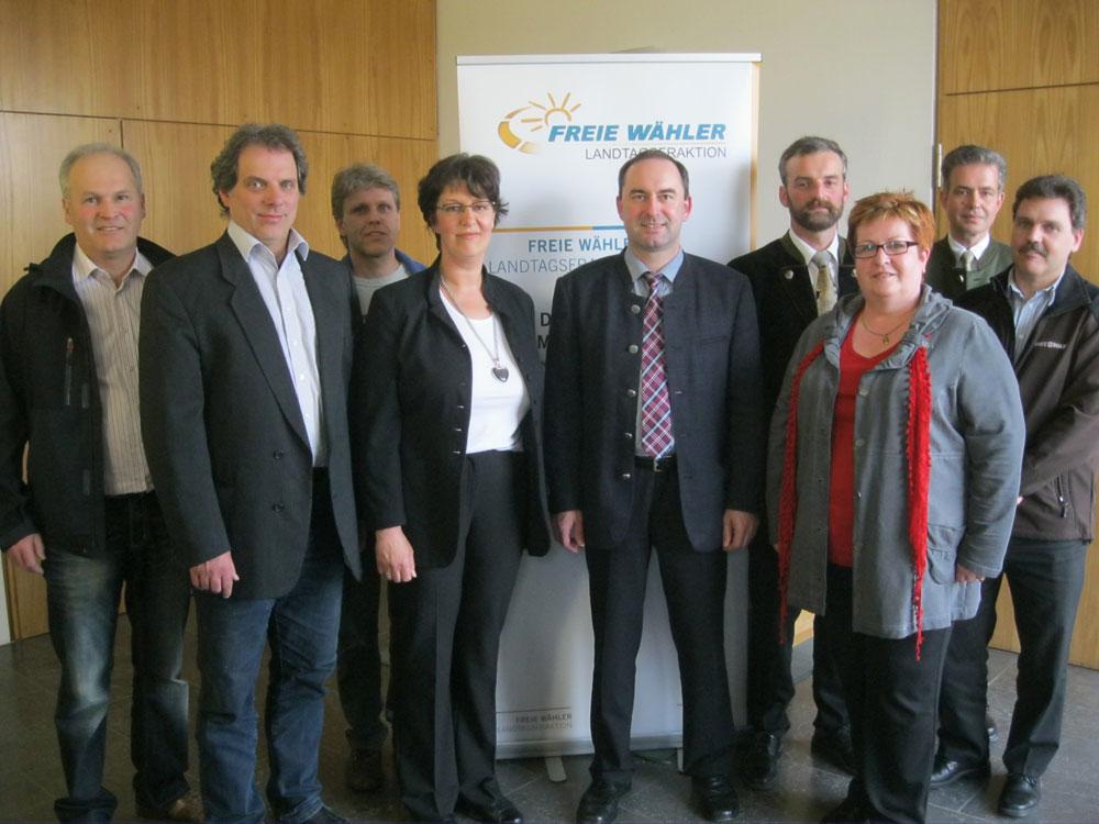 Fraktion der Freien Wähler mit Hubert Aiwanger und Florian Streibl